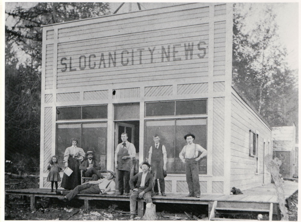 The Slocan City News was one of the early newspapers in Slocan. circa 1897 courtesy of the New Denver Museum