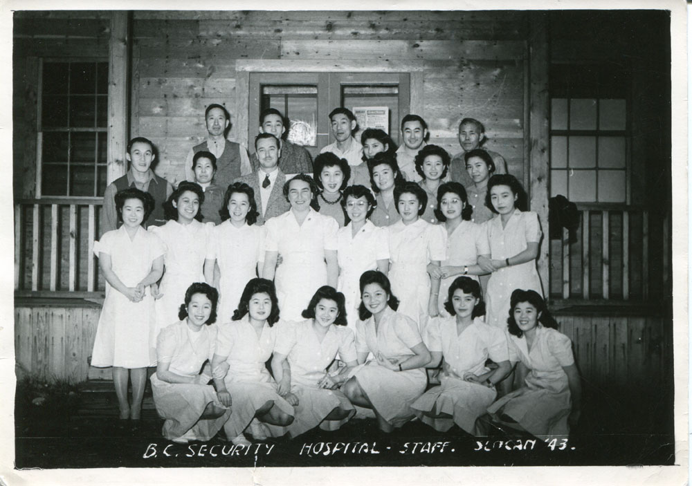The BC Security Hospital Staff in Slocan, circa 1943.
