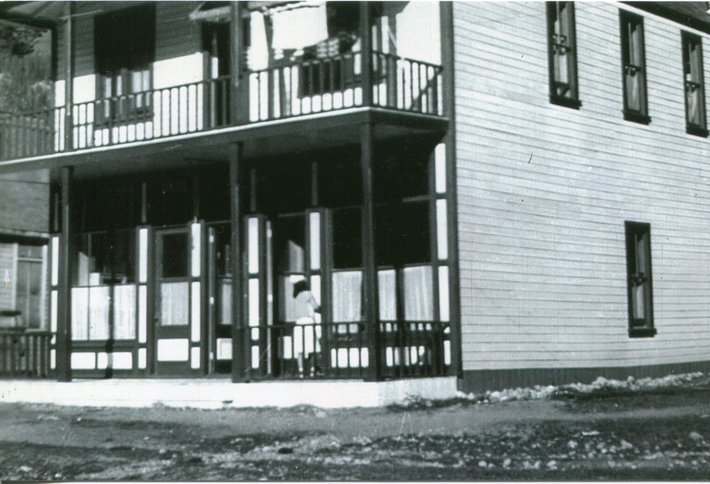 The Old Miner's hospital was re-purposed as a hospital for the interned Japanese Canadians. circa 1943