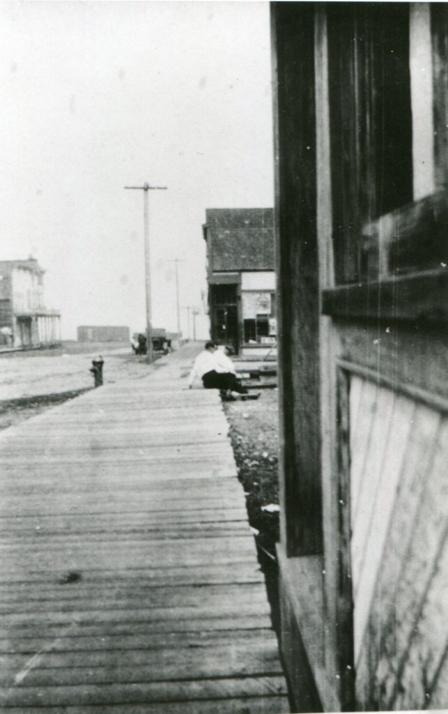 Looking toward the Lake on Main Street in Slocan. circa 1920s