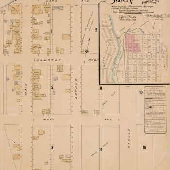 1897 Fire Map of Slocan, courtesy of the Library and Archives of Canada