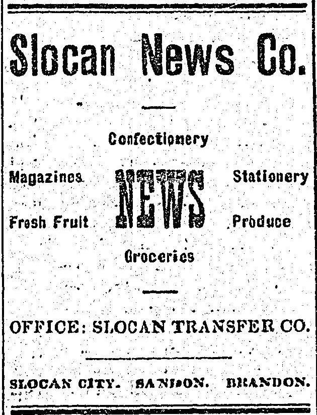 The Slocan News was another of the early newspapers in Slocan.