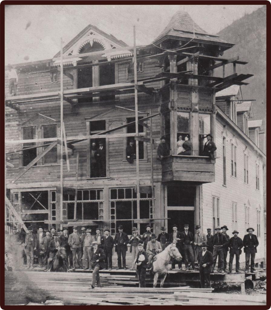 Arlington Hotel, under construction circa 1896
