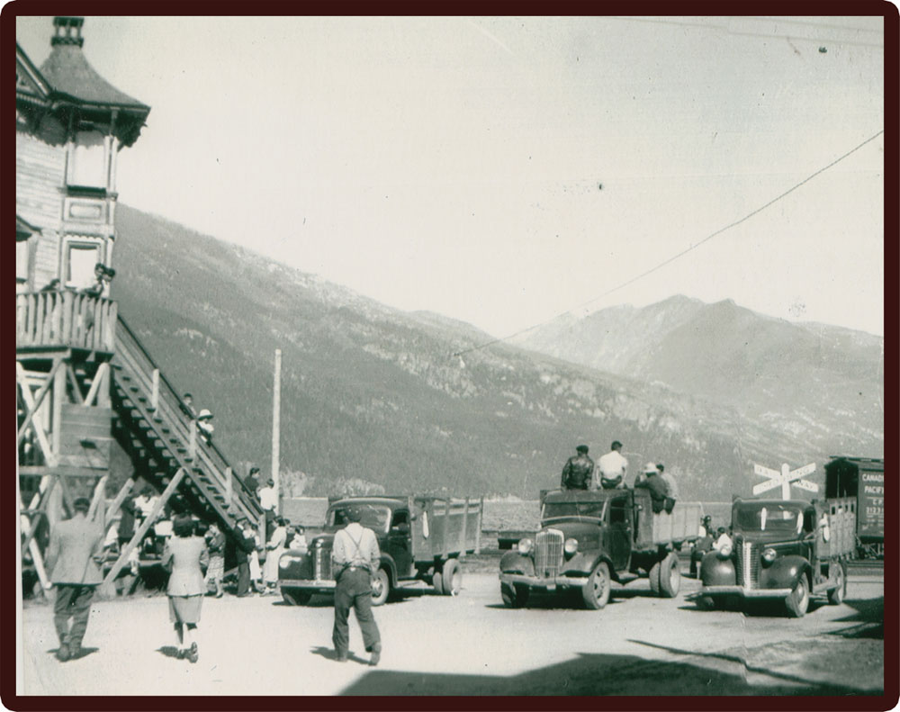 When the Japanese Canadians first arrived in Slocan 1942