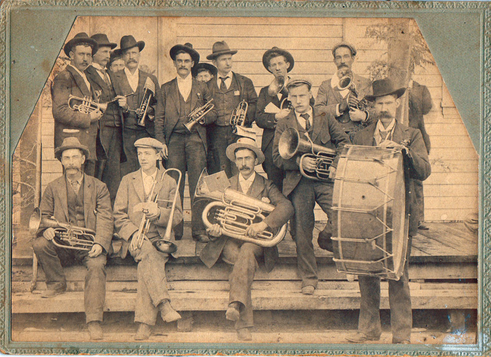 First Band in Slocan City - 1899