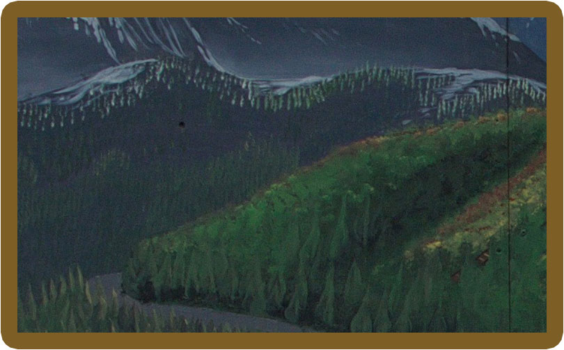 Artist rendition of the Slocan Valley