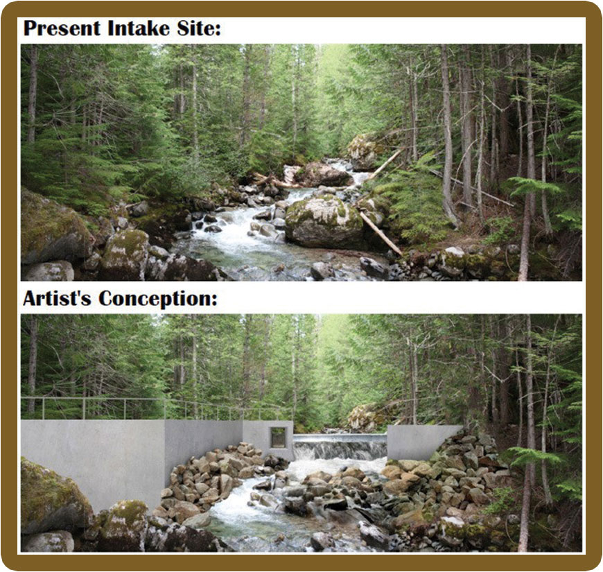 Springer Creek - proposed site of new Village Hydro project