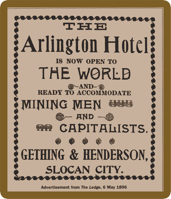 Advertizement from the Ledge newspaper, 6 May 1896