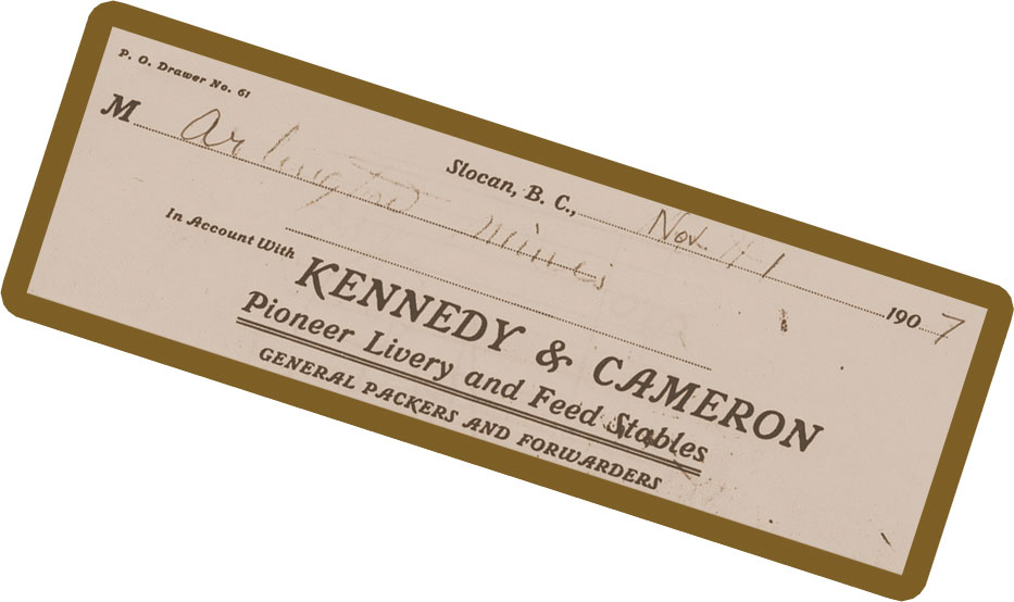 letterhead from the Pioneer Livery and Feed Stables - 1907