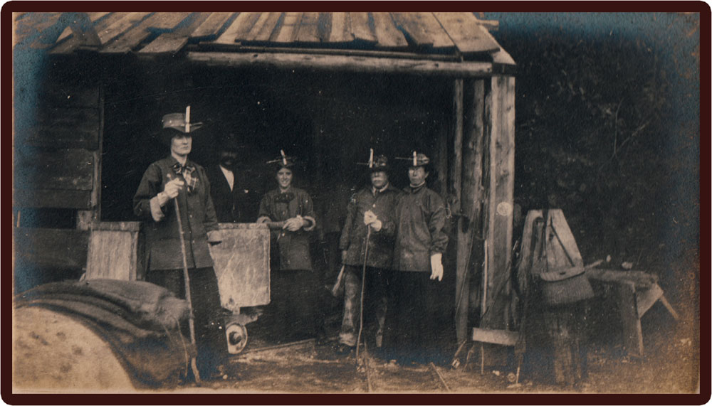 From the photo album of John Ashworth's visit to Slocan City in 1908. Mr Ashworth came out from England as an engineer to oversee the mining operation at the Enterprise.