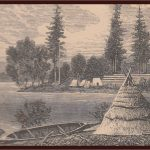 artist rendition of early settlement