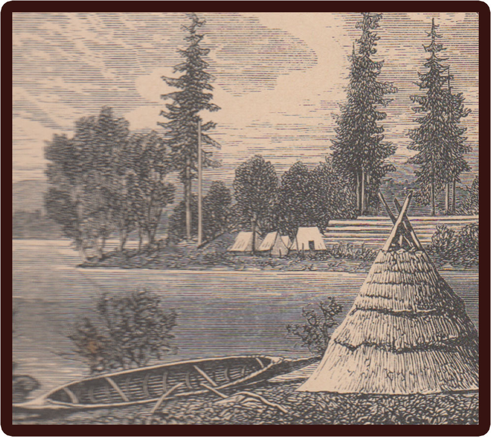 artist rendition of early settlement