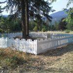 Buddhist Memorial fence redone 2018