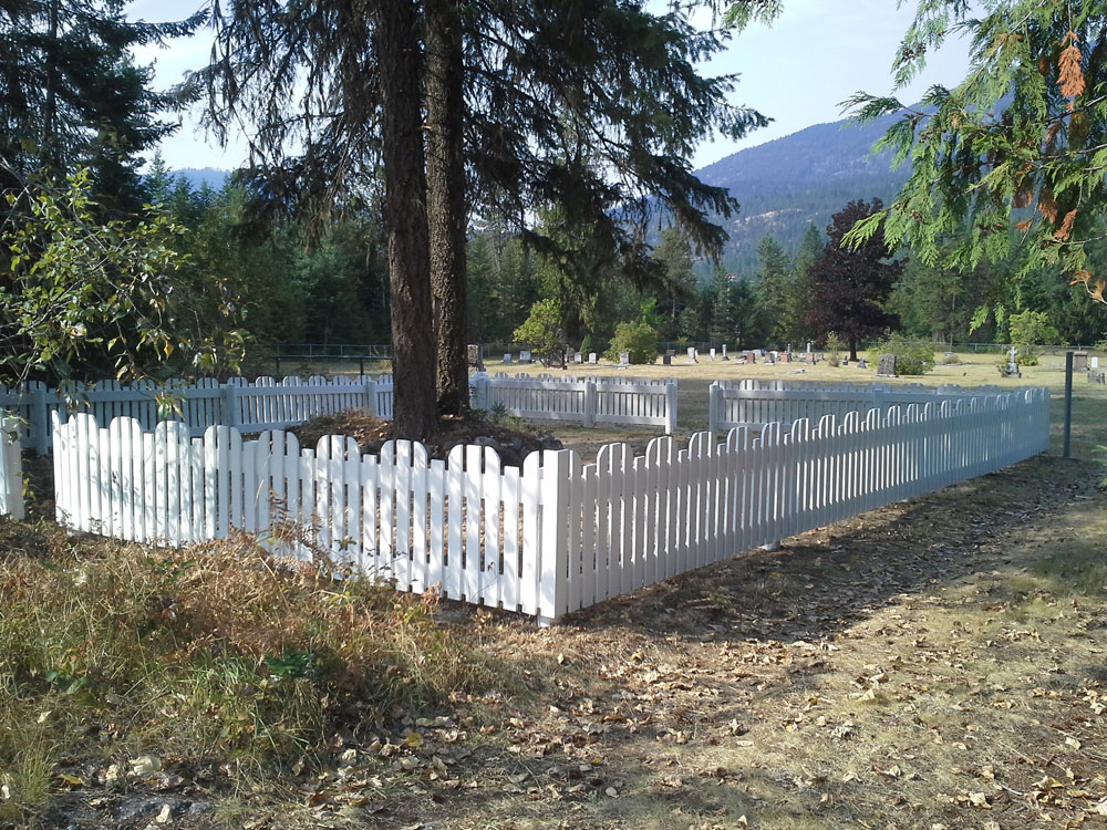 Buddhist Memorial fence redone 2018