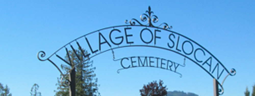 Entrance to the Slocan Cemetery