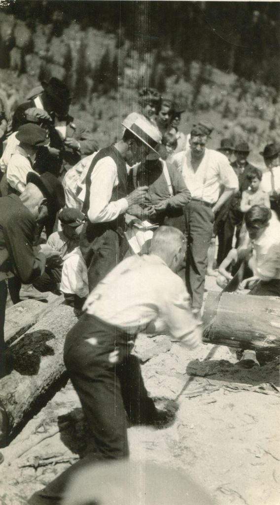 Log Sawing contest, Labour Day, date unknown