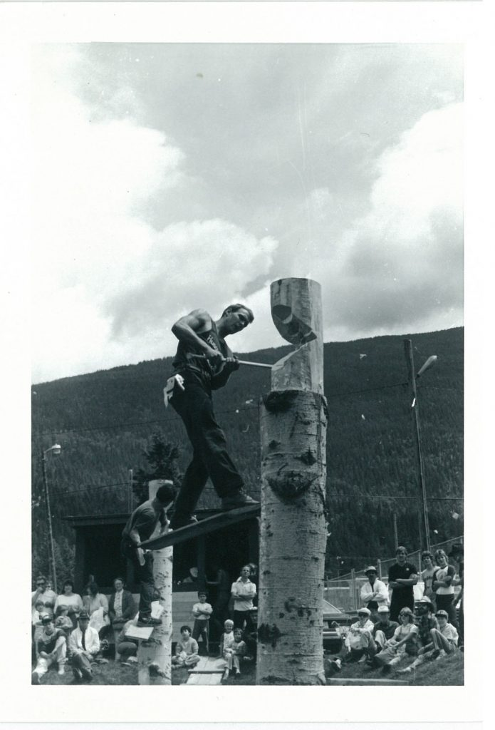 Logging Show 1986, Spring Board Chop