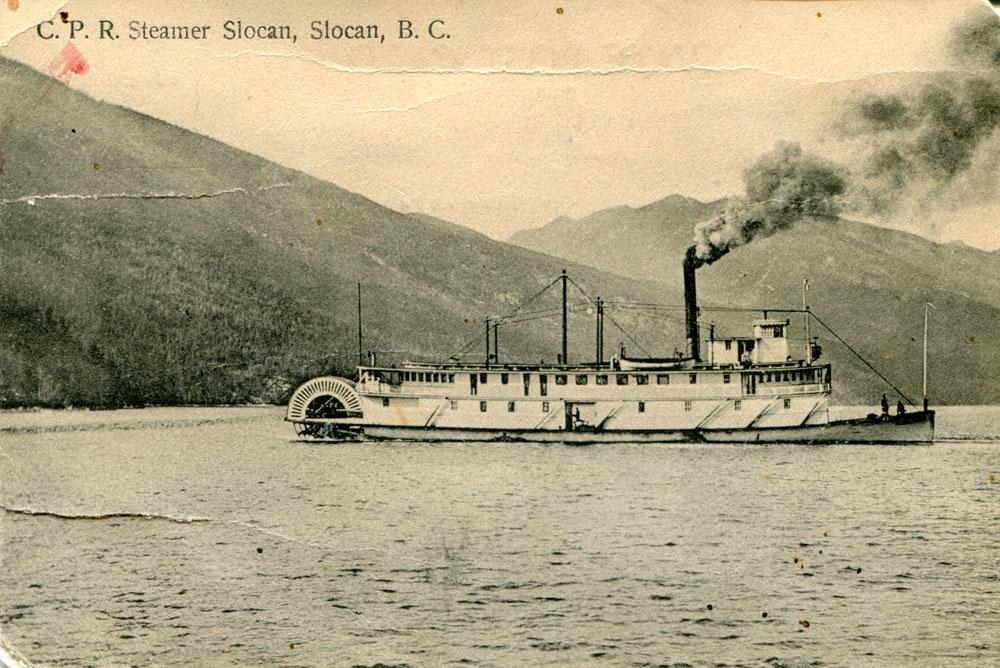 CPR Steamer Slocan, circa 1916