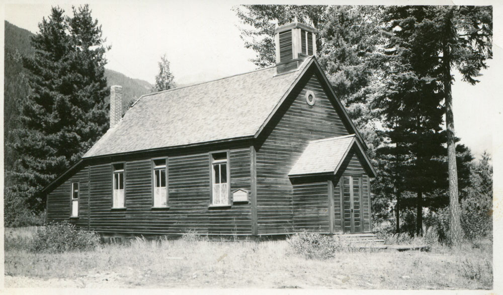 """Presbyterian Church, circa 1928. Called """"Peter's Church"""" because he stayed Presbyterian when the United Church was formed and gathered a flock, then built this church."""