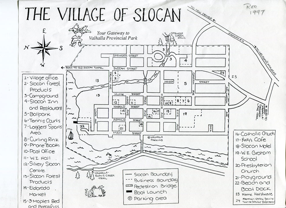 1997 Map of Slocan