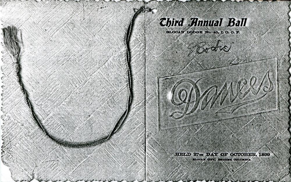 Third Annual Ball, Dance Card, 27 Oct 1899