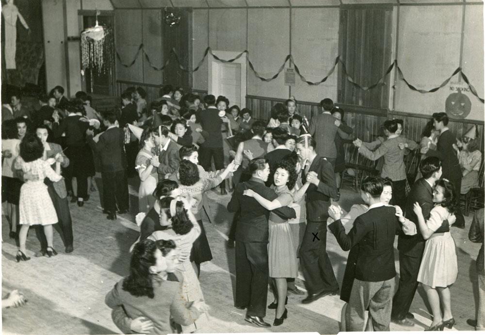 Halloween Dance at the Odd Fellows Hall, 1943