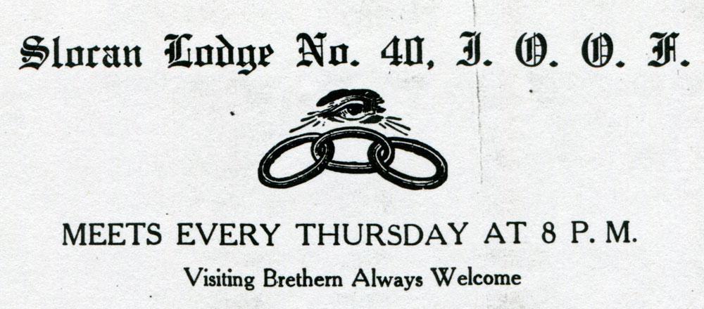 International Order of Odd Fellows letterhead