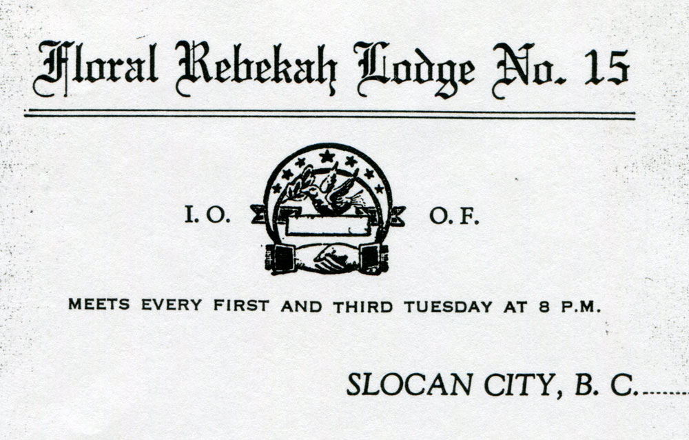 Rebekah Lodge letterhead