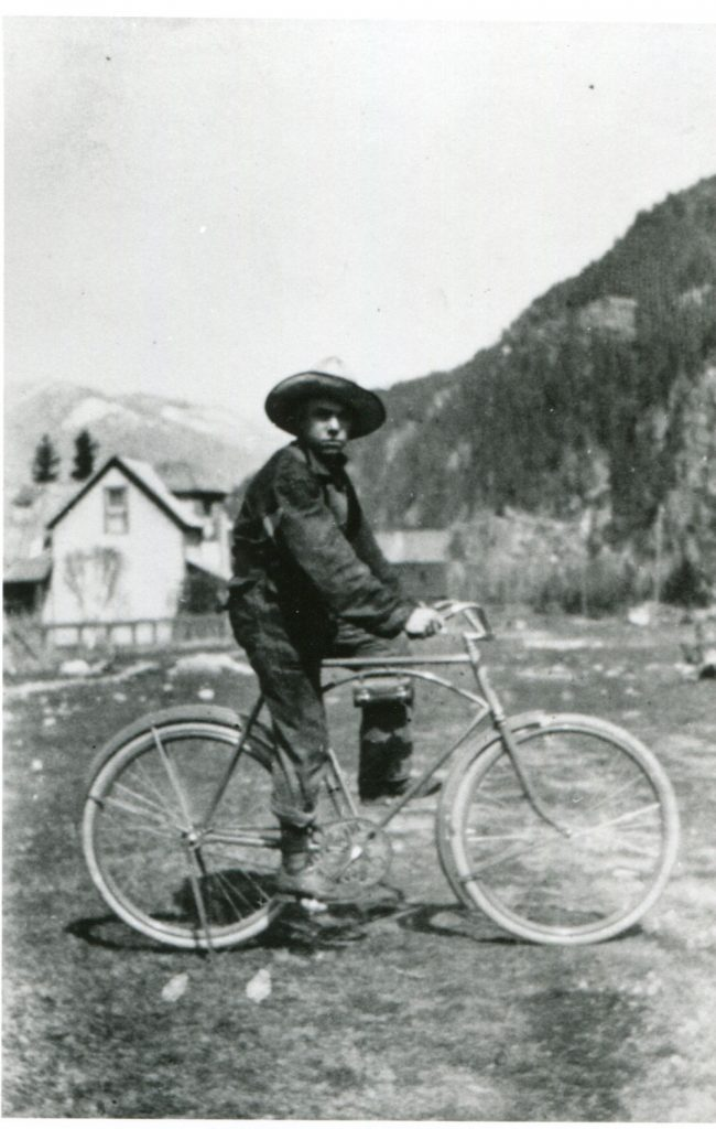 Bicycles are a good way to get around Slocan in any era!