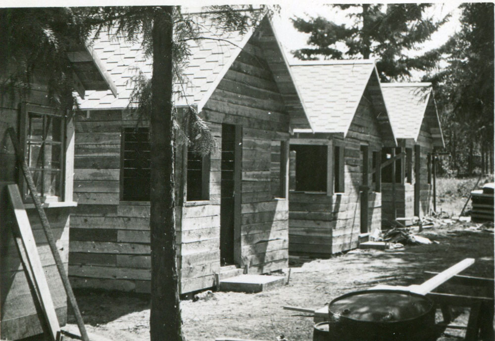 Clough's Cabins, they were just being built. circa 1946
