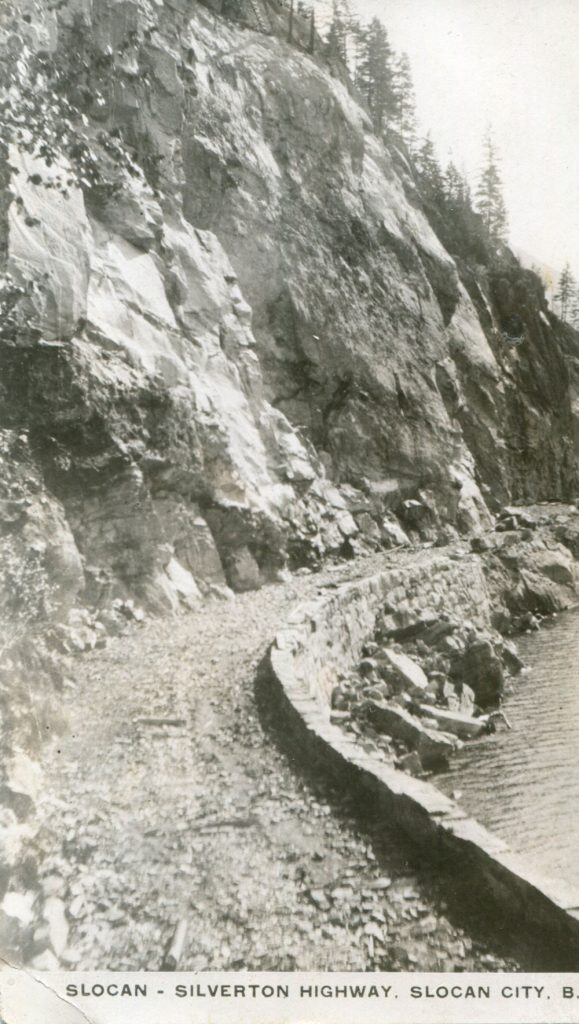 Another picture of the much anticipated new Slocan-Silverton road, circa 1928