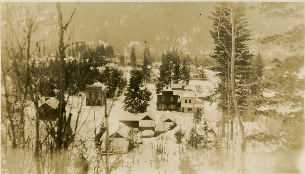 Rare photo of Brandon, undated, courtesy of the Silvery Slocan Historical Society