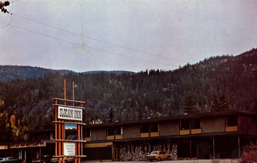 The Slocan Inn in the early years.