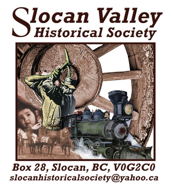 Slocan Valley Historical Society detailed logo 2017