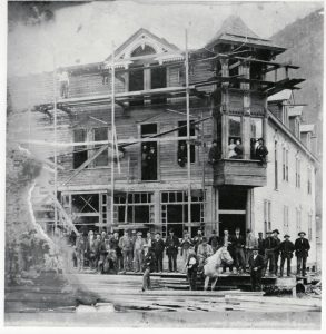 Building of the Arlington Hotel circa 1896-97