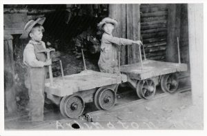 """Willie"" William Hill & the cook's son at the Arlington Mine circa 1900."