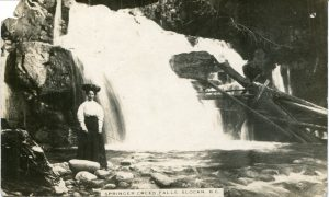 Springer Creek Falls, Slocan, BC postcard c.1913