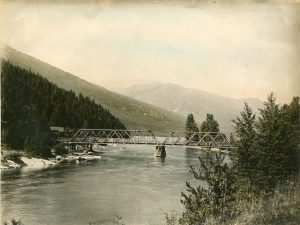 Bridge over Slocan River c.1930s