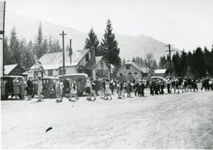 V. E. Day at Slocan - May 8, 1945