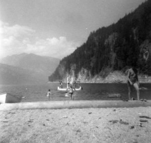 Slocan Beach before Pacific Logging mill was built