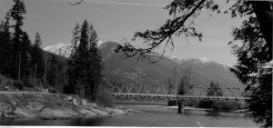The old Slocan River Bridge
